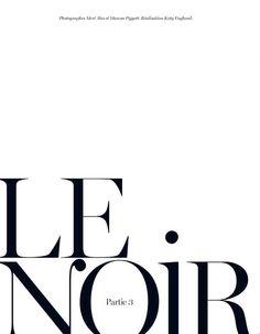 le noir typographie #type #typography