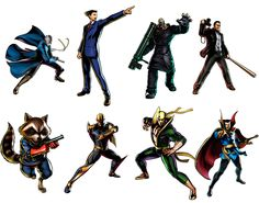Capcom approved character shapes as an icon base