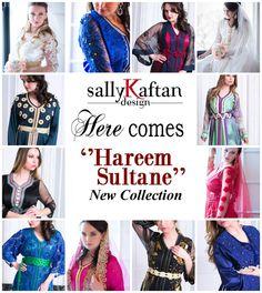 New ''Hareem Sultane '' collection listed at www.sallykaftanddesign.com #moroccan #kaftan #moroccankaftan