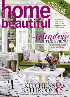 Spring is in the air and not before time. Our latest issue of Home Beautiful magazine is brimming with fresh ideas and inspiration to give your home a clean sweep and begin a new season of decorating. Clean Sweep, Life Kitchen, Beautiful Cover, Australian Homes, Outdoor Furniture Sets, Outdoor Decor, Home Organization, Kitchen Design, Indoor
