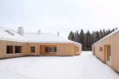 Oopeaa – Office for Peripheral Architecture, House Riihi, Alajärvi, Finlandia Wood Architecture, Contemporary Architecture, Contemporary Cabin, School Architecture, L Shaped House, Timber Slats, Studios, Old Houses, Modern Houses