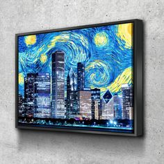 Unique Wall Art, Holiday Time, Custom Canvas, Floating Frame, Van Gogh, Canvas Frame, Cool Pictures, Chicago, Gallery