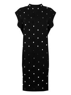2057bec17d108 CHEAP MONDAY · CAPSULE DRESS ABITO FANTASIA LUNA Vestito nero con stampa  fasi lunari