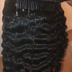Deep wave/kinky water shots with cool slomo edit Curly Hair Care, Curly Hair Styles, Natural Hair Styles, My Hairstyle, Pretty Hairstyles, Hairstyles Men, Edges Hair, Pelo Afro, Long Natural Hair