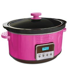 $30 - Amazon.com: BELLA 13998 Dots Collection Programmable Slow Cooker, 5-Quart, Pink: Kitchen & Dining