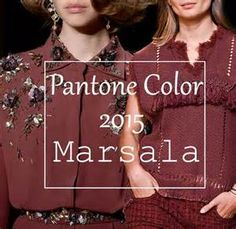 Pantone's color of the year Marsala 2015