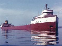 On November 10, 1975, the Edmund Fitzgerald and its crew of 29 vanish during a storm on Lake Superior.  It's thought a rogue wave sank the ship.
