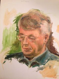 Lezende man. Olieverf. 2006