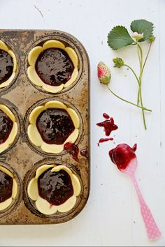 I like the idea of using a flower cookie cutter and muffin tin to create awesome mini-pie crusts!