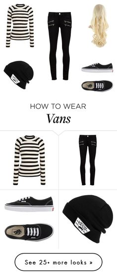 """Casual Striped w/ Vans"" by sinigingred on Polyvore featuring Paige Denim and Vans"