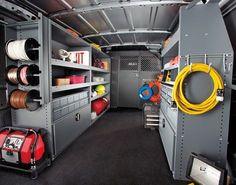 Work Van Storage   ... van organized based on repetition of duties increases efficency