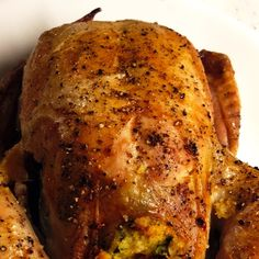 It's easier than you think to impress your dinner guests. A simple recipe that makes you look like a pro. Cornish Hen Recipes Oven, Baked Cornish Hens, Cornish Hen Recipe With Stuffing, Stuffed Cornish Hens, Dinner Entrees, Dinner Recipes, Stuffing Recipes, Cornbread Stuffing, Southern Recipes