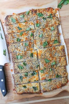 Quinoa Crust 'Flatbread' with Roasted Garlic & Fresh Basil – Gluten Free