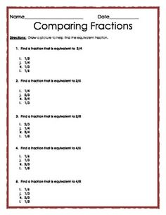Equivalent Fractions: Multiple Choice Quiz | Opgaveark brøker ...