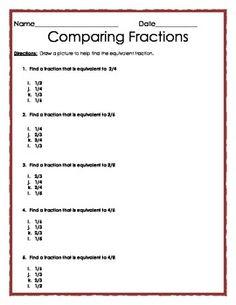 fraction test grade 4 pdf
