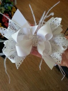Pageant bow I made.
