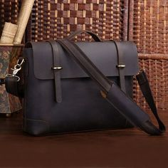 """Image of Freeshipping Crazy Horse leather Briefcase Laptop Messenger Ipad 14"""" 15"""" Laptop 15"""" Macbook Tote Bag"""