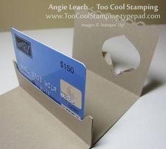 Pop Up Gift Card Holder tutorial