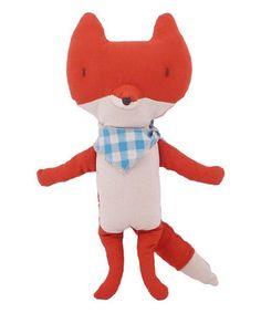 Look what I found on #zulily! Fox & Scarf Plush Toy #zulilyfinds