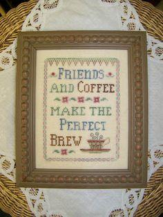 Friends & Coffee - Cross Stitch Pattern