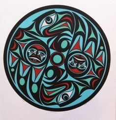 Harmony Joe Wilson Northwest Coast (Coast Salish) serigraph, edition 200 X 2006 Indigenous Art, Inuit, Native Art, Coastal Art, Tribal Art, Indian Art, Culture Art, Art, Pacific Northwest Art