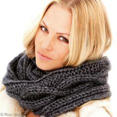 Tricoter un snood en motif torsade - Idées et conseils Crochet et tricot