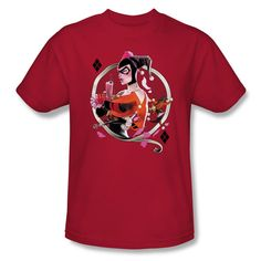 Whether you're a fan of Harley Quinn from Batman: The Animated Series, the Batman Arkham video games or comic books, you'll love this shirt we simply call Q.?˜ It's available in Mens sizes up to 5XL a