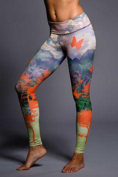 Onzie Graphic Legging - Hot Yoga Clothing, Bikram Yoga Clothes, Core Power Yoga
