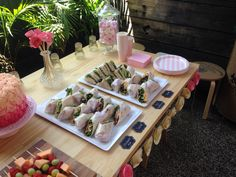 Sandwiches + wraps @ Mama Jays - baby shower