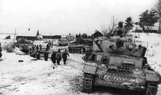 A column from s.Pz.-Abt. 501 with mixed medium tanks: Panzer IV Ausf. H, Panzer III Ausf. L (and of course Tiger).
