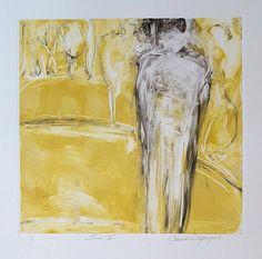 "Eve V, Claudia Mengel, Monoprint, 22"" x 15"""