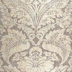 """Schumacher Cordwain Damask Amethyst Fabric Width: 55"""" Fabric Content: 38% Linen / 37% Viscose / 25% Polyester Horizontal Repeat: 27.5"""" Vertical Repeat: 42.5"""" Repeat: Straight Usage: Multipurpose"""
