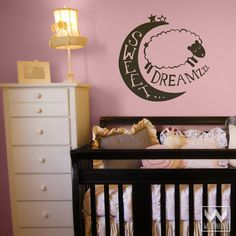 Over The Moon Wall Graphic Vinyl Decal for Nursery And Kids Room Walls | wallternatives
