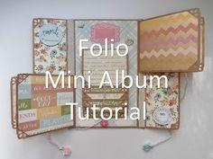 Mother's Day Folio Mini Album Tutorial - YouTube