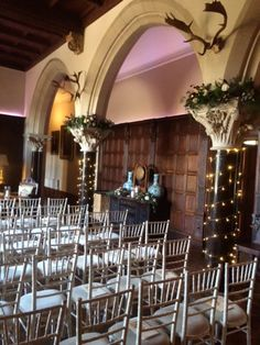 xmas ceremony in the Great Hall at Huntsham Court