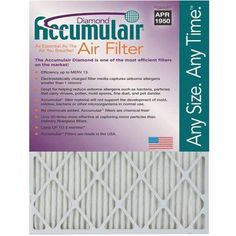 Accumulair Diamond 1 inch Air Filter, 4-Pack