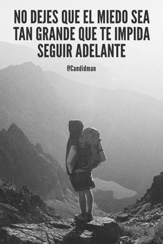 """No dejes que el #Miedo sea tan grande que te impida seguir adelante"". @candidman #Frases #Motivacion #Candidman Book Quotes, Life Quotes, Words Worth, Typography Quotes, Spanish Quotes, Life Motivation, Life Advice, Good Thoughts, Beautiful Words"