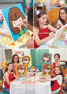 """Come do a """"Let me Paint a Selfie"""" Art Birthday Party @ Pinot's Palette The Woodlands!"""