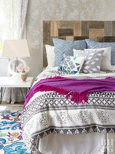 Sail away to sweet dreams with a driftwood-inspired headboard you can make yourself.