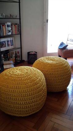 Crochet Pouf, Crochet Cushions, Yarn Projects, Drops Design, Totoro, Stationary, Crochet Patterns, Textiles, Knitting