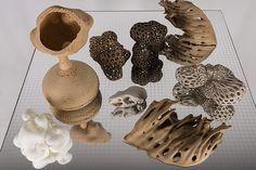 Esculturas de Angelo Venosa realizadas com auxílio de uma impressora 3D