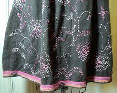 India Skirt Vintage Indian Hippie CHAIN by VintageFashionistas