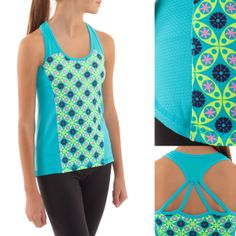 Rock the Team Time Tank with a strappy back and body-mapped Mesh panels for ultimate sweat-wicking ability | ivivva
