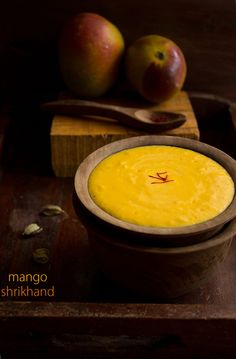 mango shrikhand - not overly sure what to do with this. It's an indian dish with mangos and yogurt. Is it a side, a sauce, a soup kind of thing?
