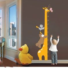provide kids wall stickers giraffe kids growth chart height measure for kids rooms/decoration home decor in high quality, cute full wall decals and classical full wall mural decals for you to choose, use full wall stickers to decorate your walls. Wall Stickers Giraffe, Removable Wall Stickers, Kids Stickers, Wall Decals, Giraffe Nursery, Nursery Room, Kids Bedroom, Cartoon Giraffe, Cartoon Bear