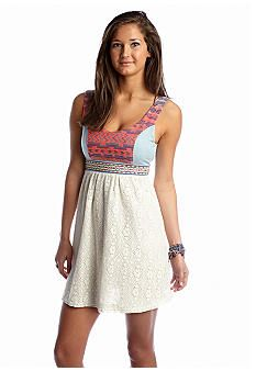 Flying Tomato Embroidered Lace Tank Dress