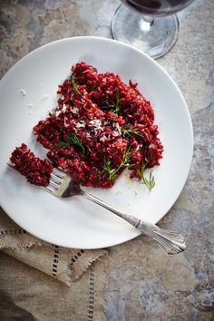 Beet Risotto--perhaps for valentine's dinner?