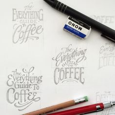 Thumbnail comps for the coffee lettering I did in the Dec. issue of @honolulumag. #sketch #lettering @kristinlipman