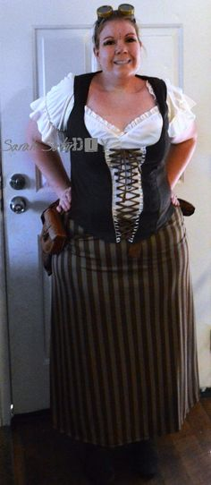 Bar wench Halloween costume to Steampunk-Costume