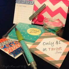 Frugal Mom and Wife: Stylish Office Supplies ONLY $1 at Target!